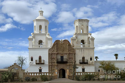 San Xavier Del Bac Mission Facade Poster by Bob Christopher