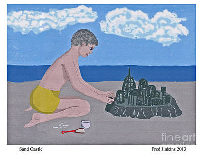 Sand Castle Poster by Fred Jinkins