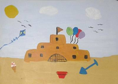 Sand Castle Poster by Julie Dunkley