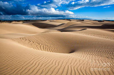 Sand Dune Vortex Poster