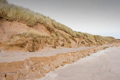 Sand Dunes At Beadnell Poster