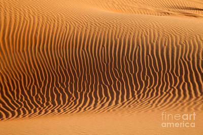 Sand Dunes In Dubai Poster
