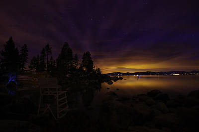 Sand Harbor Lake Tahoe Astrophotography Poster by Scott McGuire