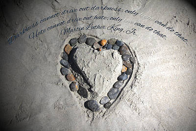 Sand Heart Poster by Jemmy Archer