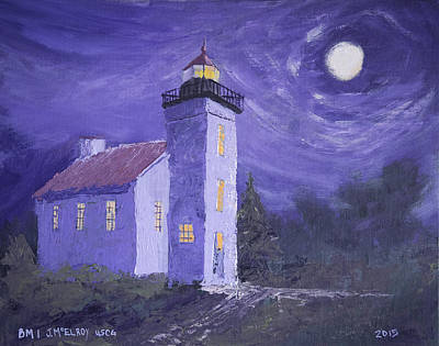 Sand Point Lighthouse Poster by Jerry McElroy