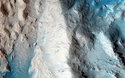 Sand Slopes On Mars Poster by Nasa/jpl-caltech/university Of Arizona