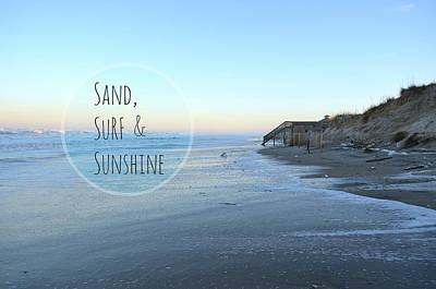 Sand Surf Sunshine Poster by Robin Dickinson