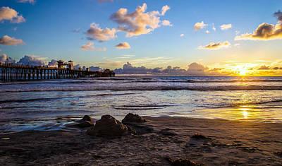 Sandcastle Sunset Poster