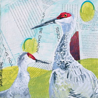 Sandhill Cranes Poster by Shelley Overton