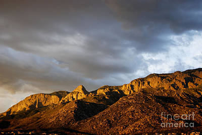 Poster featuring the photograph Sandia Mountains by Gina Savage