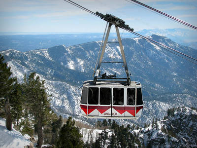 Sandia Peak Tramway Winter Poster