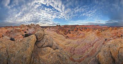 360 View Of Vermillion Cliffs  Poster by Yva Momatiuk John Eastcott