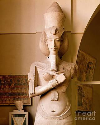 Sandstone Statue Of Akhenaton Poster