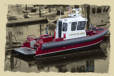Sandwich Cape Cod Fire Rescue Boat Poster