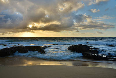 Sandy Beach Sunrise 4 - Oahu Hawaii Poster