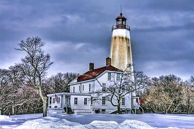 Sandy Hook Lighthouse Poster by Geraldine Scull