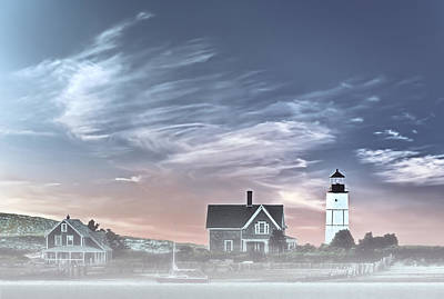 Sandy Neck Lighthouse Poster by Susan Candelario