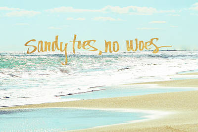 Sandy Toes, No Woes Poster