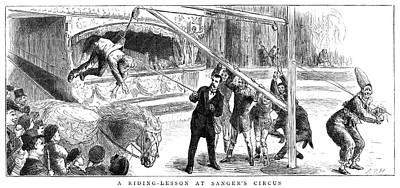 Sanger's Circus, 1884 Poster