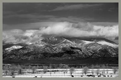 Sangre De Cristo Mountains From Blueberry Ridge Taos New Mexico Poster by Mark Goebel