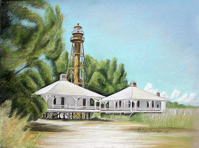 Sanibel Lighthouse Poster by Melinda Saminski