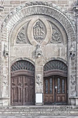 Sankt Johannes Kyrkas Main Entrance Poster by Antony McAulay