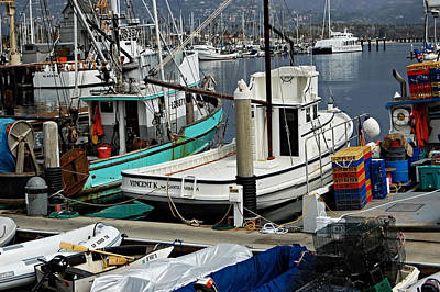 Santa Barbara Fishing Boats Poster by See My  Photos