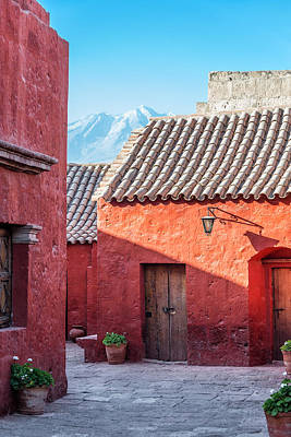 Santa Catalina Monastery And Volcano Poster