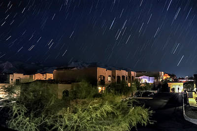 Poster featuring the photograph Santa Catalina Mountain Startrails by Dan McManus