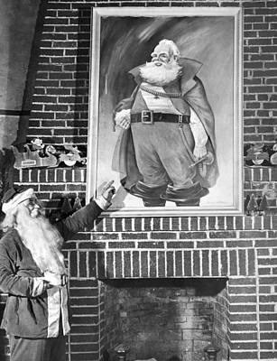 Santa Claus Portrait Uproar Poster by Underwood Archives
