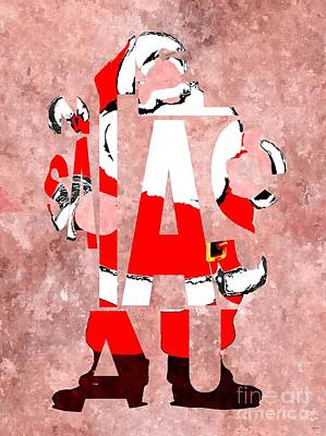 Santa Claus Typography Poster