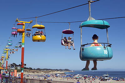 Santa Cruz Beach Amusement Park  Poster