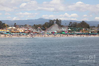 Santa Cruz Beach Boardwalk California 5d23799 Poster by Wingsdomain Art and Photography