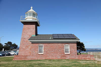 Santa Cruz Lighthouse Surfing Museum California 5d23942 Poster by Wingsdomain Art and Photography