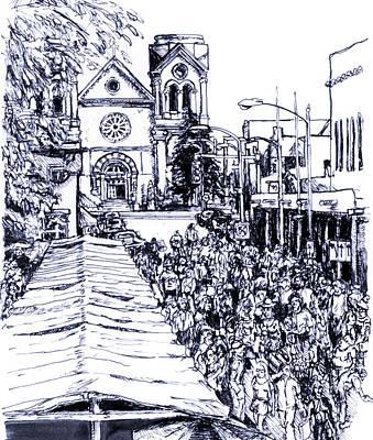 Santa Fe Market Poster by Del Gaizo