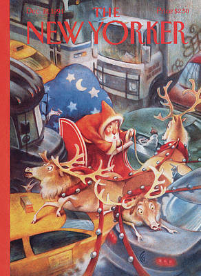 Santa In Nyc Poster by Carter Goodrich