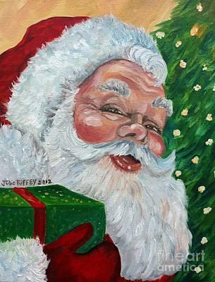 Santa Poster by Julie Brugh Riffey