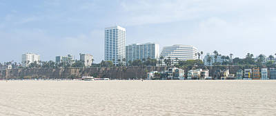 Santa Monica Beach With Buildings Poster by Panoramic Images