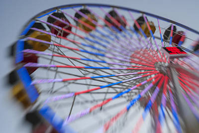 Santa Monica Pier Ferris Wheel At Dusk Poster