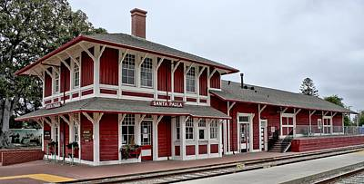 Poster featuring the photograph Santa Paula Station by Michael Gordon