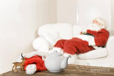 Santa Resting Poster by Amanda Elwell