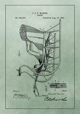 Santa Sleigh Patent Poster by Dan Sproul