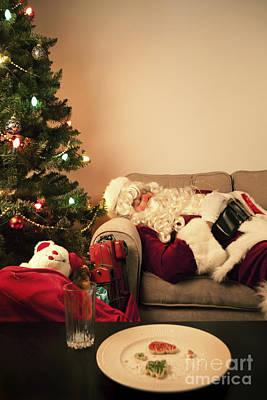 Santa Takes A Nap Poster