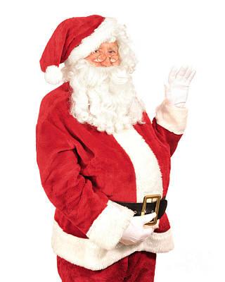 Santa Waving Poster by Amanda Elwell