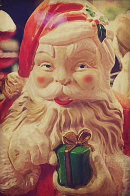 Santa Whispers Vintage Poster by Toni Hopper