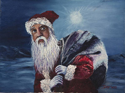 Santa With His Pack Poster