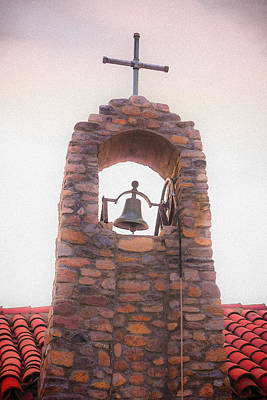 Santa Ysabel Mission Bell Tower Poster by Scott Campbell