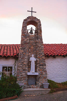 Santa Ysabel Mission St Francis Chapel Bell Tower Poster by Scott Campbell