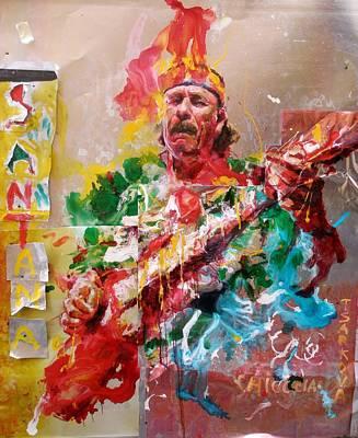 Santana Poster by Massimo Chioccia and Olga Tsarkova