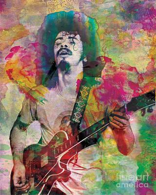 Santana Original Poster by Ryan Rock Artist